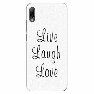 Plastový kryt iSaprio - Live Laugh Love - Huawei Y6 2019
