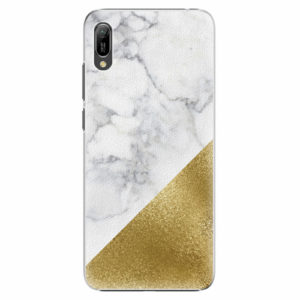 Plastový kryt iSaprio - Gold and WH Marble - Huawei Y6 2019