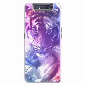 Plastový kryt iSaprio - Purple Tiger - Samsung Galaxy A80