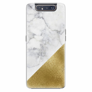 Plastový kryt iSaprio - Gold and WH Marble - Samsung Galaxy A80