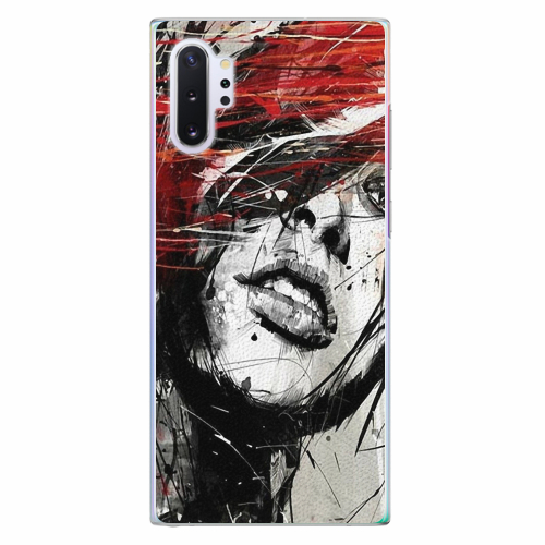 Plastový kryt iSaprio - Sketch Face - Samsung Galaxy Note 10+