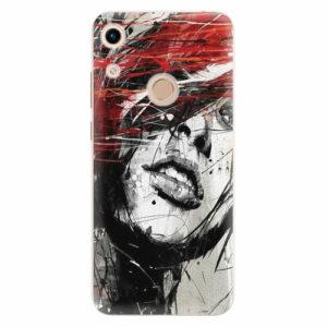 Silikonové pouzdro iSaprio - Sketch Face - Huawei Honor 8A