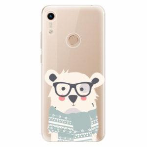 Silikonové pouzdro iSaprio - Bear with Scarf - Huawei Honor 8A