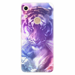 Silikonové pouzdro iSaprio - Purple Tiger - Huawei Honor 8A