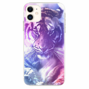 Plastový kryt iSaprio - Purple Tiger - iPhone 11