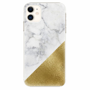 Plastový kryt iSaprio - Gold and WH Marble - iPhone 11