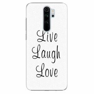 Plastový kryt iSaprio - Live Laugh Love - Xiaomi Redmi Note 8 Pro