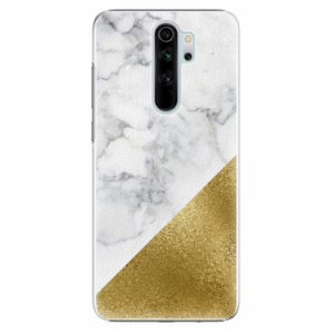 Plastový kryt iSaprio - Gold and WH Marble - Xiaomi Redmi Note 8 Pro