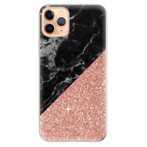 Silikonové pouzdro iSaprio - Rose and Black Marble - iPhone 11 Pro Max