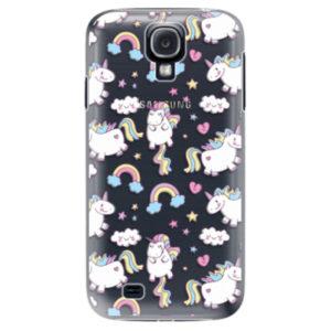 Plastové pouzdro iSaprio - Unicorn pattern 02 - Samsung Galaxy S4