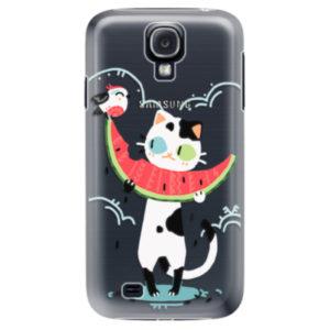 Plastové pouzdro iSaprio - Cat with melon - Samsung Galaxy S4