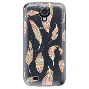 Plastové pouzdro iSaprio - Feather pattern 02 - Samsung Galaxy S4