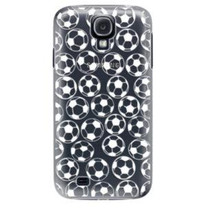 Plastové pouzdro iSaprio - Football pattern - white - Samsung Galaxy S4
