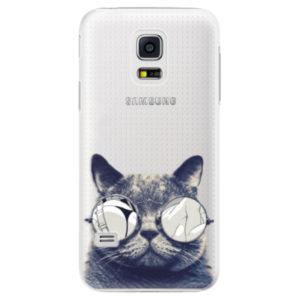 Plastové pouzdro iSaprio - Crazy Cat 01 - Samsung Galaxy S5 Mini