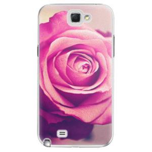 Plastové pouzdro iSaprio - Pink Rose - Samsung Galaxy Note 2