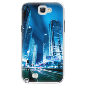 Plastové pouzdro iSaprio - Night City Blue - Samsung Galaxy Note 2