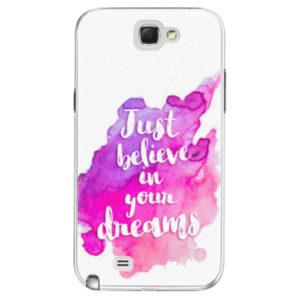 Plastové pouzdro iSaprio - Believe - Samsung Galaxy Note 2