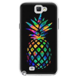 Plastové pouzdro iSaprio - Rainbow Pineapple - Samsung Galaxy Note 2