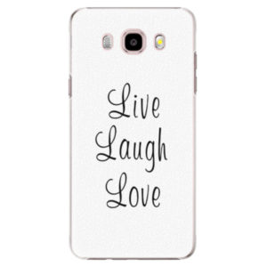 Plastové pouzdro iSaprio - Live Laugh Love - Samsung Galaxy J5 2016