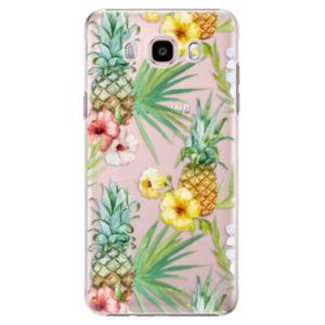 Plastové pouzdro iSaprio - Pineapple Pattern 02 - Samsung Galaxy J5 2016