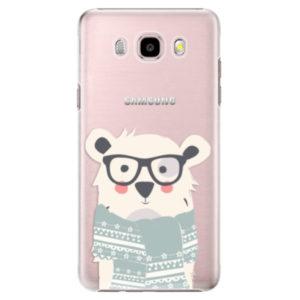 Plastové pouzdro iSaprio - Bear with Scarf - Samsung Galaxy J5 2016