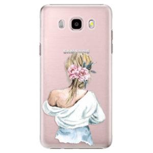 Plastové pouzdro iSaprio - Girl with flowers - Samsung Galaxy J5 2016