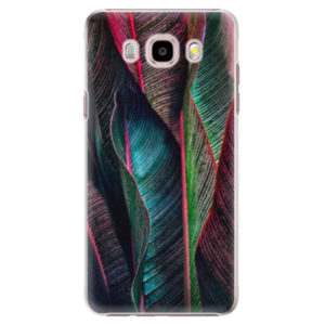 Plastové pouzdro iSaprio - Black Leaves - Samsung Galaxy J5 2016