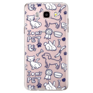 Plastové pouzdro iSaprio - Love my pets - Samsung Galaxy J5 2016