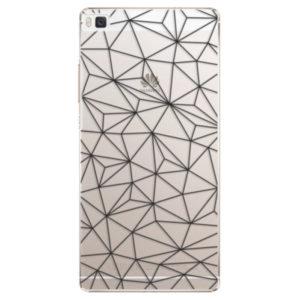 Plastové pouzdro iSaprio - Abstract Triangles 03 - black - Huawei Ascend P8