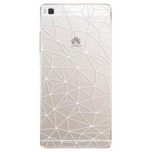 Plastové pouzdro iSaprio - Abstract Triangles 03 - white - Huawei Ascend P8
