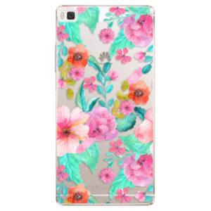 Plastové pouzdro iSaprio - Flower Pattern 01 - Huawei Ascend P8