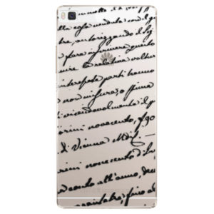 Plastové pouzdro iSaprio - Handwriting 01 - black - Huawei Ascend P8