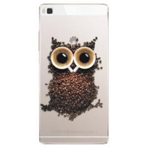Plastové pouzdro iSaprio - Owl And Coffee - Huawei Ascend P8