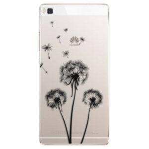 Plastové pouzdro iSaprio - Three Dandelions - black - Huawei Ascend P8