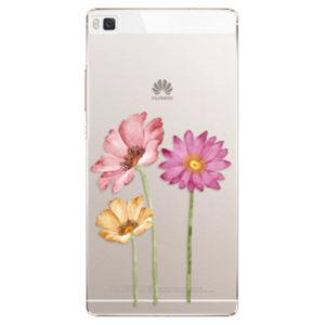 Plastové pouzdro iSaprio - Three Flowers - Huawei Ascend P8