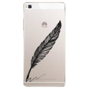 Plastové pouzdro iSaprio - Writing By Feather - black - Huawei Ascend P8