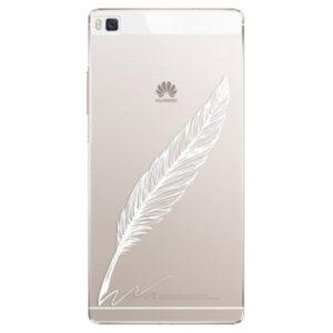 Plastové pouzdro iSaprio - Writing By Feather - white - Huawei Ascend P8