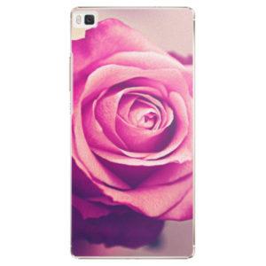Plastové pouzdro iSaprio - Pink Rose - Huawei Ascend P8