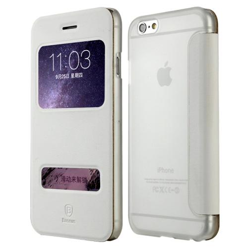 Elegantní obal   pouzdro Baseus Leather case pro iPhone 6 Plus bílý ... 461849dde64