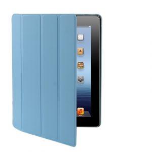 Kožený kryt / pouzdro Smart Cover pro iPad 2 / 3 / 4 modrý