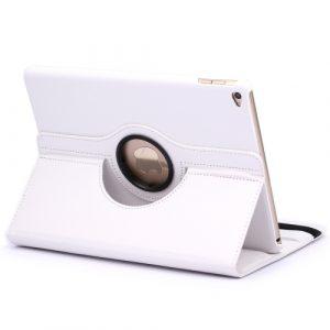 Kožený kryt / pouzdro Smart Cover Rotation Litchi pro iPad Air 2 bílý