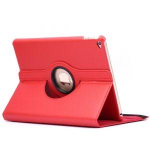 Kožený kryt / pouzdro Smart Cover Rotation Litchi pro iPad Air 2 červený