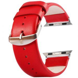 Kožený pásek / řemínek Kakapi pro Apple Watch 42mm červený