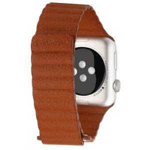 Kožený pásek / řemínek Baseus Magnetic Leather pro Apple Watch 42mm hnědý