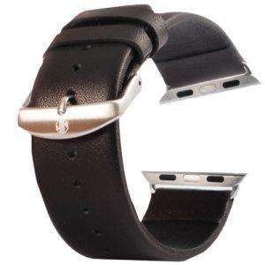 Kožený pásek / řemínek Kakapi pro Apple Watch 38mm černý