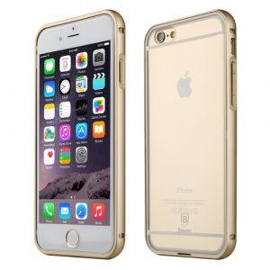 Plastový kryt a kovový rámeček Baseus Crystal Series pro iPhone 6 Plus / 6S Plus zlatý
