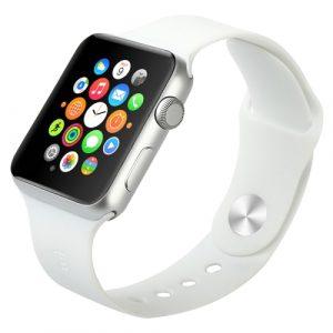 Gumový pásek / řemínek Baseus Fresh pro Apple Watch 42mm bílý