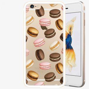 Plastový kryt iSaprio - Macaron Pattern - iPhone 6/6S - Gold