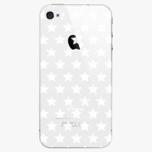 Plastový kryt iSaprio - Stars Pattern - white - iPhone 4/4S