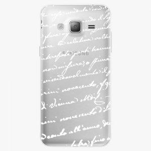 Plastový kryt iSaprio - Handwiting 01 - white - Samsung Galaxy J3 2016